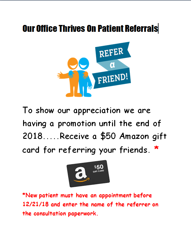 Referral promotion 2018